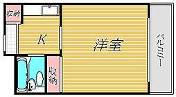 神奈川県横浜市神奈川区六角橋5丁目の賃貸マンションの間取り