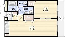 第2コーポ平野[4階]の間取り