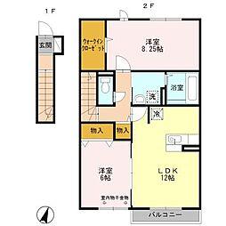 アモーレ エテルノ B[2階]の間取り