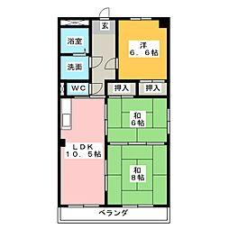 アイマンションかえで[4階]の間取り