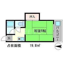 ハイツ錦[1階]の間取り