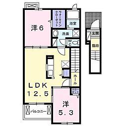 グランツ TA・TU・MI III[2階]の間取り