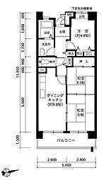 王塚東シティコート[6階]の間取り