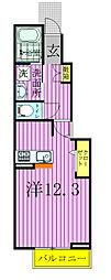 千葉県松戸市小金原6丁目の賃貸アパートの間取り