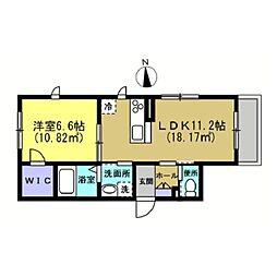仮)川崎区藤崎1−1シャーメゾン[101号室]の間取り