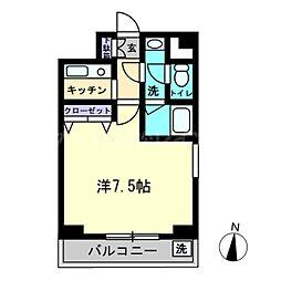 香川県高松市錦町2丁目の賃貸マンションの間取り