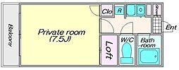 メゾンブランセ[703号室]の間取り