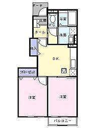 プロムナードIII[1階]の間取り