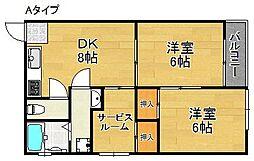 沢之町駅前ビルマンション[2階]の間取り