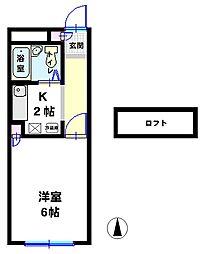ドリームハウス下植木B[2階]の間取り