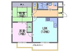 第二長法寺マンション[2階]の間取り