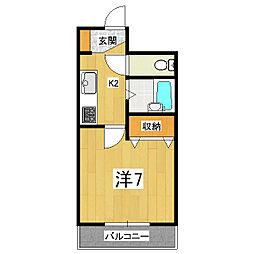 セカンドハウス吉田[201号室]の間取り