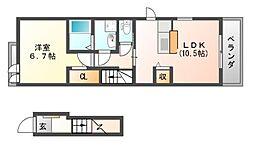 ノーブルA[2階]の間取り