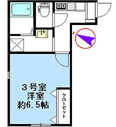 グラシア南太田[2階]の間取り