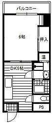 光10マンション[9階]の間取り