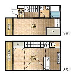 [タウンハウス] 神奈川県川崎市高津区子母口 の賃貸【/】の間取り