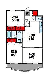 第23川崎ビル[4階]の間取り