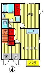 アンサンブル・コート[B-101号室]の間取り