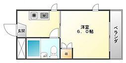メブロ5[4階]の間取り