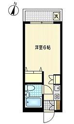 神奈川県川崎市川崎区堀之内町の賃貸マンションの間取り