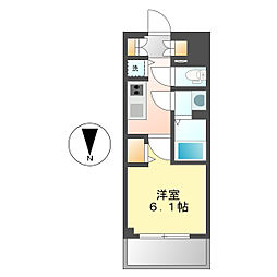 愛知県名古屋市中区丸の内2の賃貸マンションの間取り