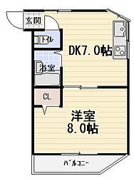 セラヴィ大枝[4階]の間取り