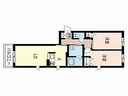 ブレセッド メゾン室[3階]の間取り