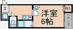 広島県広島市東区牛田東3丁目の賃貸マンションの間取り