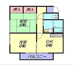 エレガント鬼塚5[2階]の間取り