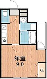 フジパレス沢ノ町II番館[3階]の間取り