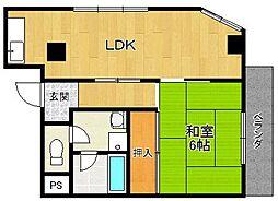エクシード武庫之荘[5階]の間取り