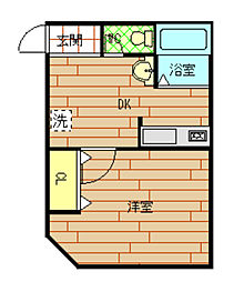 福島ビル[4階]の間取り