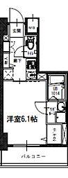Osaka Metro長堀鶴見緑地線 西大橋駅 徒歩6分の賃貸マンション 10階1Kの間取り
