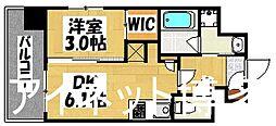 福岡市地下鉄空港線 中洲川端駅 徒歩5分の賃貸マンション 7階1DKの間取り