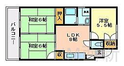 福岡県福岡市早良区有田2丁目の賃貸マンションの間取り