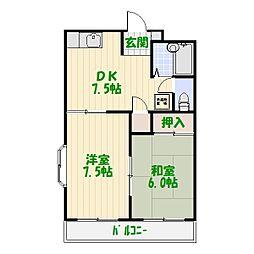 東京都葛飾区宝町1丁目の賃貸アパートの間取り