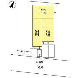 (仮)宮原町3丁目D-room新築工事[202号室]の外観