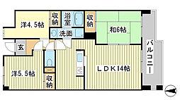 シティガーデン広畑[4階]の間取り