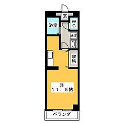 コンベナリー八幡B[3階]の間取り