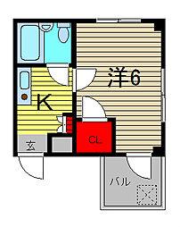 ひまわり館[3階]の間取り