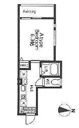 東急田園都市線 長津田駅 徒歩9分の賃貸アパート 2階1Kの間取り