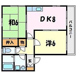 兵庫県西宮市宮西町の賃貸アパートの間取り