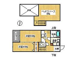 コンフォートベネフィスジオ貝塚駅前[2階]の間取り