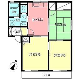 ハイツ古関II[1階]の間取り