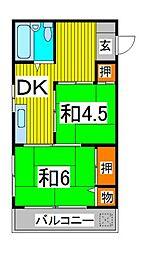 第2三井マンション[401号室]の間取り