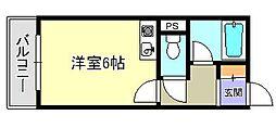 アールスコート[4階]の間取り