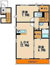 シャーメゾン江井ヶ島海岸[2階]の間取り