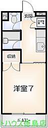百田ハイツ(西新浜)[305号室]の間取り