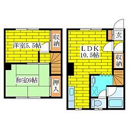 [テラスハウス] 北海道札幌市清田区北野七条3丁目 の賃貸【/】の間取り