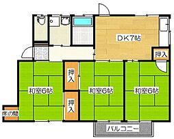 [一戸建] 福岡県太宰府市吉松2丁目 の賃貸【/】の間取り